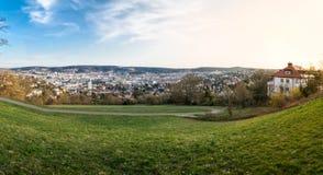 Huvudstad Baden Wuerttemberg Da för Stuttgart Cityscapelandskap Arkivbild