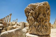 Huvudstad Jerash Arkivbild