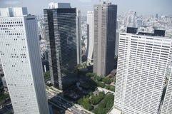 Huvudstad Tokyo för Japan ` s skyskrapor arkivfoton