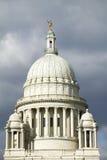 Huvudstadbyggnad av försyn Rhode - ö fotografering för bildbyråer
