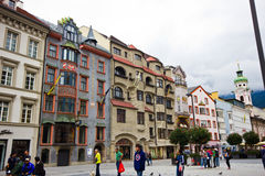 Huvudstaden av det federala landet av Tyrol - Innsbruken Royaltyfria Bilder