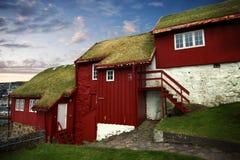 Huvudstaden av Torshavn i de Faore öarna Royaltyfri Fotografi