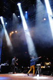 Huvudstadsmusikbandet utför på Madrid Royaltyfri Bild