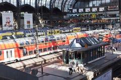 Huvudstation i Hamburg Arkivfoton