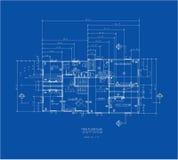 huvudtryck för blått golv Royaltyfri Fotografi