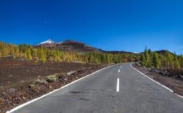 Huvudväg över lavaflöde Royaltyfri Foto