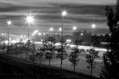 Huvudväg 1 på natten fotografering för bildbyråer
