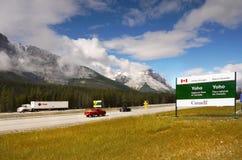 Huvudväg British Columbia, Kanada Royaltyfria Foton