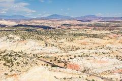 Huvudväg 12 en Miljon-dollar väg från stenblocket till Escalant Arkivbilder