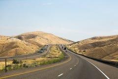 Huvudväg 84 i östliga Oregon Royaltyfri Foto