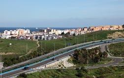 Huvudväg i Algeciras, Spanien Royaltyfria Bilder
