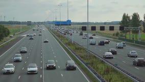 Huvudväg i Amsterdam lager videofilmer