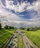 Huvudväg i Belgien arkivbilder