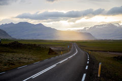 Huvudväg i Island Royaltyfri Fotografi