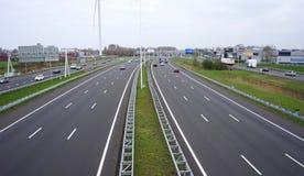 Huvudväg A4 i Nederländerna Fotografering för Bildbyråer