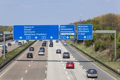 Huvudväg A5 i Tyskland Royaltyfri Foto