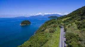 Huvudväg längs havet, huvudvägAngra DOS Reis till Rio de Janeiro arkivbild