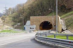 Huvudväg- och biltunnel Arkivfoton