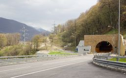 Huvudväg- och biltunnel Royaltyfri Foto