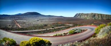 Huvudväg på Reunion Island royaltyfri bild