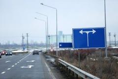 Huvudväg som ses från över royaltyfria bilder