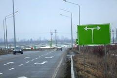Huvudväg som ses från över royaltyfri bild