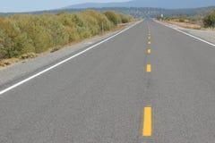 huvudväg straight Arkivbild