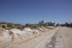 A1A-huvudväg till Marineland efter orkanen Matthew Fotografering för Bildbyråer