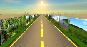 Huvudväg till och med katastrof Fotografering för Bildbyråer