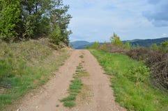 Huvudväg till skyen Arkivbild