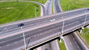 Huvudväg utbyte Flyg- skytte stock video