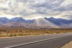 Huvudväg 396, väg till kolossala sjöar område, USA Fotografering för Bildbyråer