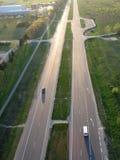 huvudväg vilnius Arkivbild