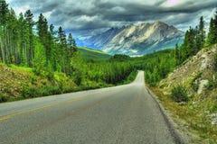 huvudvägberg rockies Royaltyfri Fotografi