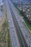 Huvudvägen för rutt 91-New Smart, avgiftväg i det orange länet, Kalifornien Royaltyfri Foto
