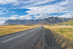 Huvudvägen på Island Royaltyfria Bilder