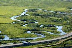 huvudvägfloder arkivbild