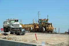 Huvudvägkonstruktion på Texas State Highway 26 royaltyfri fotografi
