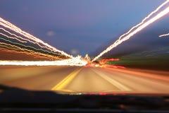 huvudväglampor Arkivbild