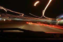 huvudväglampor Royaltyfria Bilder