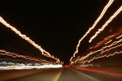 huvudväglampor Fotografering för Bildbyråer