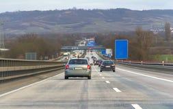 Huvudväglandskap i germany fotografering för bildbyråer
