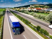 huvudväglastbil Arkivbilder