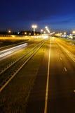 huvudvägmidnatt Royaltyfri Bild