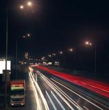 huvudvägnatt Fotografering för Bildbyråer