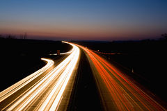 huvudvägnatt Arkivfoto