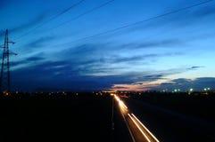 huvudvägnatt Royaltyfria Bilder