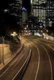 huvudvägnatt sydney royaltyfri foto