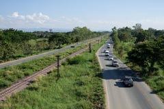 Huvudvägringleden av den Chiang Mai staden Arkivbild