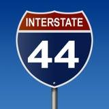 Huvudvägtecken för mellanstatlig rutt 44 Arkivbilder